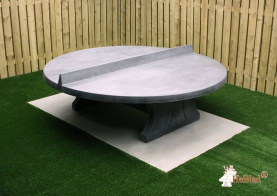 Table de ping-pong béton-anthracite ronde